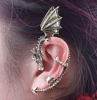 Wholesale 24PCS Chriatmas Party Using Vintage Wings Dragon Earrings Men Women s Earrings