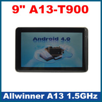 Wholesale 9 inch Allwinner A13 GHz multi touch Android Table PC usb G WiFi Webcam Market T900 G GB