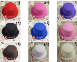 Wholesale Fascinator hats material cm Mini Party Top Hat Clips Hair headwear