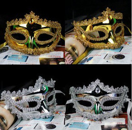 Halloween costume gold silver masquerade mask wedding party mask half face novelty gift Mardi Gras dance costume