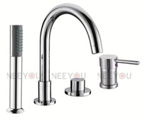 Wholesale 4 Round bathroom tub and shower mixer cold and hot separated sink mixer NY04712