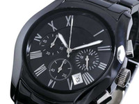 Wholesale Luxury Mens mm Black Ceramic Chronograph AR1400 Watch Men s Watches With Original Box Papers