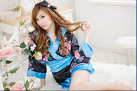 Bodystocking prices lingerie - Japanese kimono blue Christmas gifts lowest price Sexy lingerie Underwear Lingeries