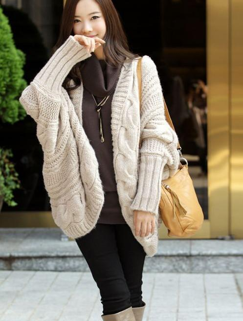 2012 the new winter clothes for women loose thicker cardigan sweater