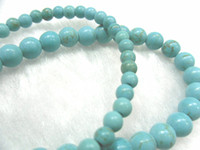Wholesale 8mm Blue Turquoise Round Beads Semi precious stone Round Beads For Jewelry Bracelets