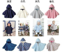 Wholesale Baby ourterwear coats girls cape sweaters outfits baby dress smock baby cloak baby cloth