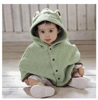 Wholesale Frog style baby cape shawl cloak of children cheaters yearsold baby to use