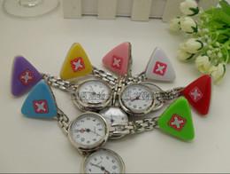 200PCS polychromatic Nurse Medical Metals Rope Style Decoration Nurse Pocket Watch Women's Watches