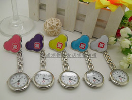 100PCS Unisex Quartz Beautiful Decoration Colourful Nurse Watch Nurse Pocket Watch Women's Watches