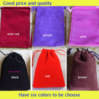 Wholesale Jewelry Pouches Bags velvet Rings Earring wedding Gif DIY Bag roll color squar Packaging Jewel Case