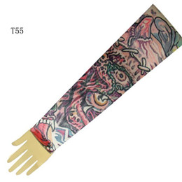 Wholesale Top Fancy Tattoo Stripe Sleeves Arm Dress Sleeve Great Tattoo Design For Men amp Women T55 ML