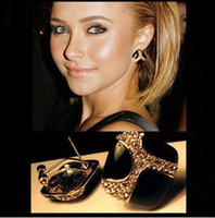 Wholesale earings fashion Pop retro luxury black glaze earrings earrings for women ear studs