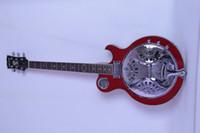 6 Strings acoustic resonator guitar - Dobro Resonator wood body red Electric acoustic Guitar