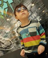 Wholesale Children s autumn cute boys color fashionable long sleeved T shirt dandys