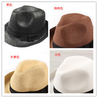 Wholesale Love the European style summer woman hat bow hat jazz hat sun hat sun hat child