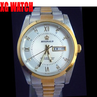 Fashion Men's Day/Date 4pcs Lots Watches Japan Movement Week and Date Stainles Steel Fahion Leisure Men Watches
