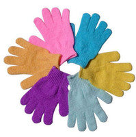 Wholesale Cloth Bath Mitt Exfoliating Gloves Cloth Scrubber Face Body Moisturizing Spa Skin Care HB926
