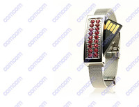 Wholesale Jewelry Crystal Wrist Bracelet USB flash drives GB GB GB GB memory sticks Pen drives pendrives