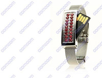 No bracelet usb flash drive - Jewelry Crystal Wrist Bracelet USB flash drives GB GB memory sticks Pen drives pendrives