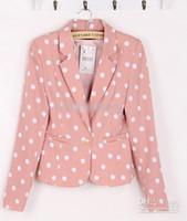 Wholesale 2012 new arrive Women Round Dot Leisure Suits Ladies Pretty Jacket Suit Coat Blazer