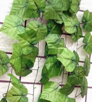 Wholesale 20pcs feet Wired Ivy Garland Silk Artificial Vine Greenery For Wedding Home Office