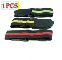 Wholesale New Durable Adjustable Nylon Stripe Guitar Strap With Soft Artificial Leather
