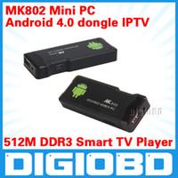 Wholesale MK802 Andriod Mini PC MB DDR3 Smart TV Player Allwiner A10 Google Internet IPTV