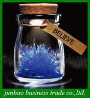 Wholesale New Flash Wishing Bottle DIY Light Growing Crystal Powder LED colorful lamp Kids Gifts
