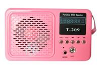 Wholesale 30PCS T portable mini speaker for IPOD MP3 MP4 player PO Mobile phone LED flashlight DHL fr