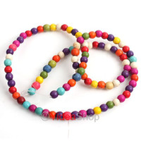 Wholesale 220x mixed Colorful Gemstone Natural Turquoise Dyed Beads MM Fit Bracelets Necklaces DIY