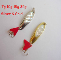 Wholesale FreeShip Silver Gold Professional G G G G SPINNER Lures Fishing Lures Baits Tackle Hook