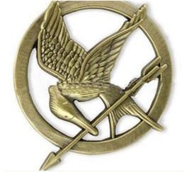 Wholesale Vintage bronze hunger games Mockingjay pin brooch badge of hunger games ridicule birds