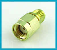 Wholesale Goldplated RP SMA adapter RP SMA male plug to SMA female Jack coax connector adapter