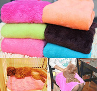 Wholesale Hot Superior Practical Coral Soft Warm Pet Dog Cat Fleece Blanket Brand New