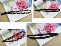 Wholesale New Synthetic Hair Plaited Plait Elastic Headband Hairband colors