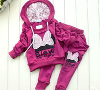 Girl sport clothing wholesale - 4sets colors kids sport wear Baby Clothing Set girls sport suit Baby Clothes Baby Garment Sport