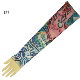 Wholesale Top Fancy Tattoo Stripe Sleeves Arm Dress Sleeve Great Tattoo Design For Men amp Women T57 ML