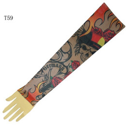 Wholesale Top Fancy Tattoo Stripe Sleeves Arm Dress Sleeve Great Tattoo Design For Men amp Women T59 ML