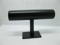 Wholesale Black T Bar Leatherette Watch Bracelet Jewelry Display Stand Holder Rack Freeshipping
