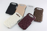 Wholesale Snake Skin Case Electroplate Chrome Hard Case Cover for Samsung Galaxy SIII S3 I9300