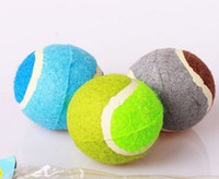 Wholesale Hot Selling Best dog chew toys tennis ball polychromatic good products