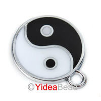 Wholesale 70pcs Enamel Yin Yang Tai chi Peace Charms Pendant x20mm