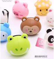 Wholesale Toothbrush rack Novelty Cute Animal Toothbrush Holders with Suction Hook BathToothbrush Holders
