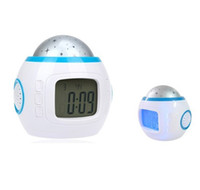 Wholesale Cute Digital Alarm Clock Calender Music Starry Sky Projector Projection LED Light