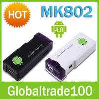 Android TV Box google internet tv box - MK802 Mini Google Android Internet TV Box HD Player WIFI PC Allwinner A10 GB Free DHL