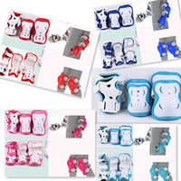 Wholesale 1Set Child Skating Knee Elbow Wrist Protective Pad Kit K0120