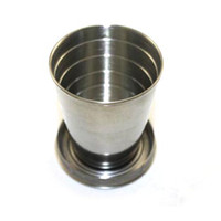 Wholesale 75ML Travel Folding Collapsible Cup Stainless Steel Ship From USA J7403