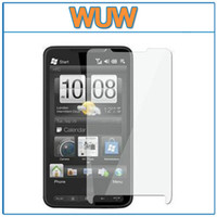 Wholesale clear Grossy LCD Screen Protector Guard for HTC Touch HD2 T8585 no retail package