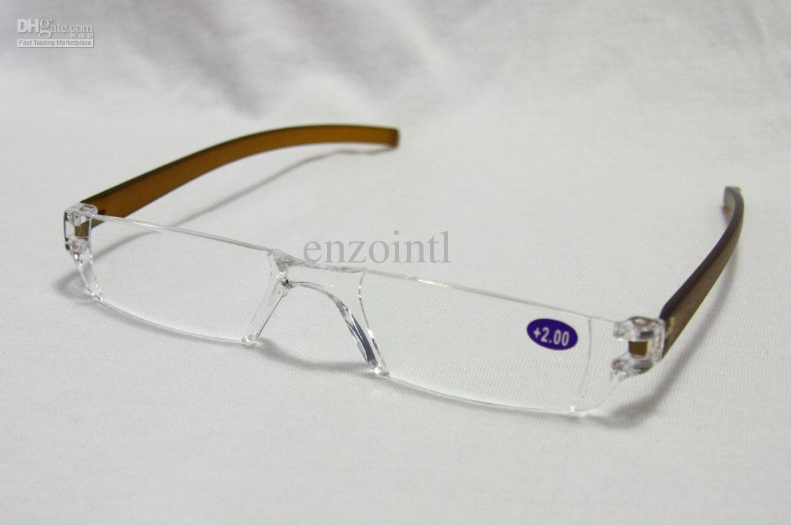 Fashion Plastic Reading Glasses, TR90 Mini Rimless ...