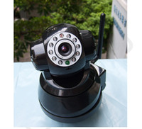 Wholesale Wireless IP Camera WiFi LED Security Internet Cameras ch WPA Audio Remote Pan Tilt
